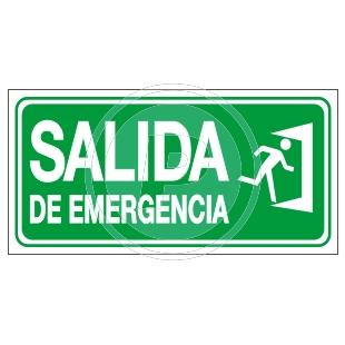 Carteles de seguridad for Precio de puertas salida de emergencia