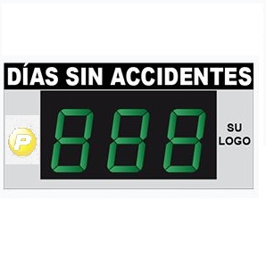 Cartel Dias Sin Accidente Electronico